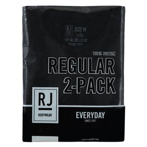 RJ EVERYDAY ROTTERDAM 2-PACK HEREN RONDE HALS T-SHIRT - ZWART