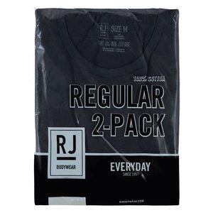 RJ EVERYDAY ROTTERDAM 2-PACK HEREN RONDE HALS T-SHIRT - NAVY
