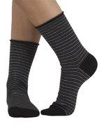 Cette - zwart/witte gestreepte sokken