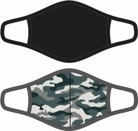Heren mondkapje Camouflage/Zwart