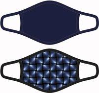 Heren mondkapje Strokes/Donkerblauw