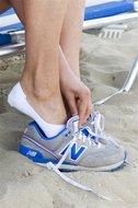 Bonnie Doon katoenen sneakersok siliconen hak - wit
