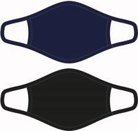 Heren mondkapje Zwart/Donkerblauw